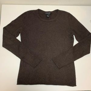 Elena Solano Brown 100% 2 Ply Cashmere Sweater S